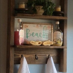 Rustic hanging wall shelf
